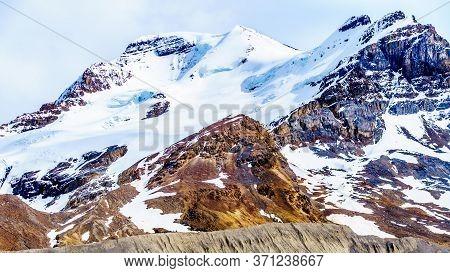Hilda Peak And Boundery Peak In The Columbia Icefields In Jasper National Park, Alberta, Canada At T