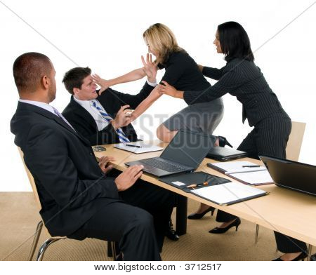 Business Meeting Fight