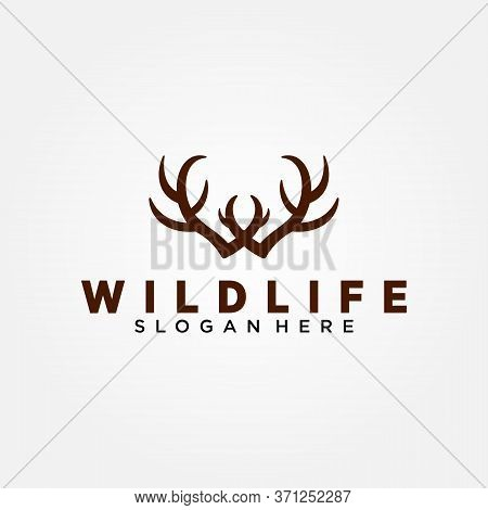 Wildlife Conservation Logo Vector Template Design. Vector Illustration.
