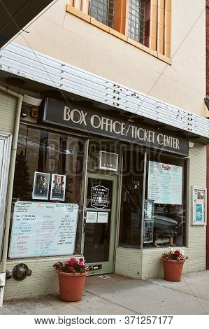Boulder, Colorado - May 27th, 2020:  Box Office At Entrance To Boulder Theater, Temporarily Closed D