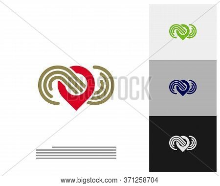 Infinity Point Logo Vector Template, Creative Infinity Logo Design Concept