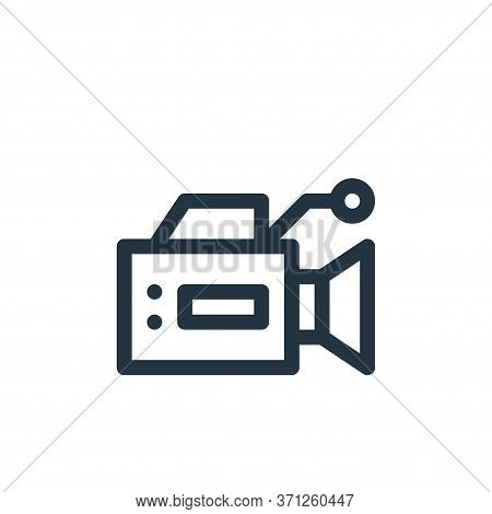 Video Camera Vector Icon. Video Camera Editable Stroke. Video Camera Linear Symbol For Use On Web An