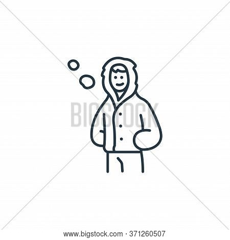 Winter Clothing Vector Icon. Winter Clothing Editable Stroke. Winter Clothing Linear Symbol For Use