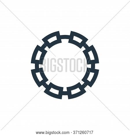 Chain Vector Icon. Chain Editable Stroke. Chain Linear Symbol For Use On Web And Mobile Apps, Logo,
