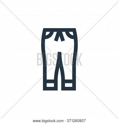 Jogger Pants Vector Icon. Jogger Pants Editable Stroke. Jogger Pants Linear Symbol For Use On Web An
