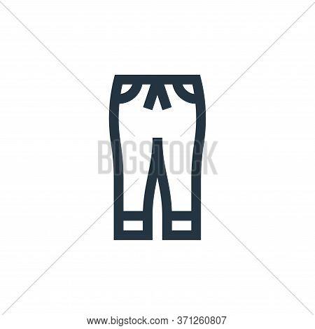 Jogger Pants Vector Icon. Jogger Pants Editable Stroke. Jogger Pants Linear Symbol For Use On Web An