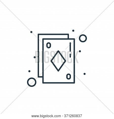 Playing Card Vector Icon. Playing Card Editable Stroke. Playing Card Linear Symbol For Use On Web An