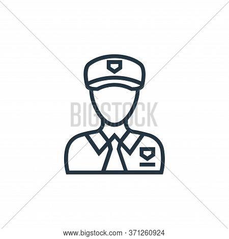 Policeman Vector Icon. Policeman Editable Stroke. Policeman Linear Symbol For Use On Web And Mobile