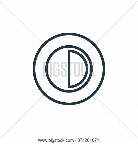 Contrast Vector Icon. Contrast Editable Stroke. Contrast Linear Symbol For Use On Web And Mobile App