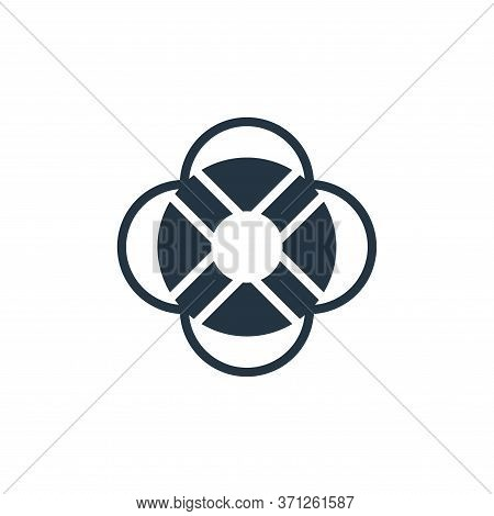 Life Buoy Vector Icon. Life Buoy Editable Stroke. Life Buoy Linear Symbol For Use On Web And Mobile