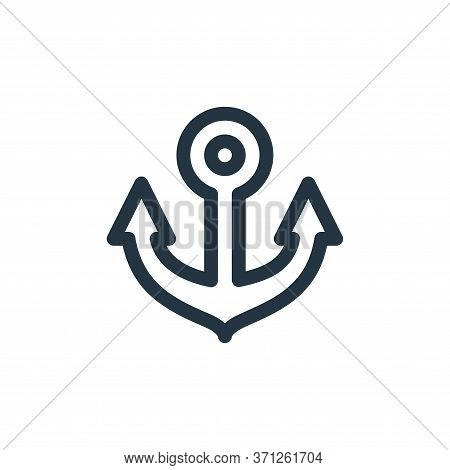 Anchor Vector Icon. Anchor Editable Stroke. Anchor Linear Symbol For Use On Web And Mobile Apps, Log