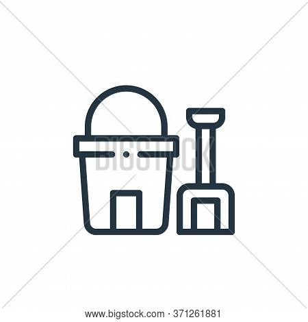 Sand Bucket Vector Icon. Sand Bucket Editable Stroke. Sand Bucket Linear Symbol For Use On Web And M