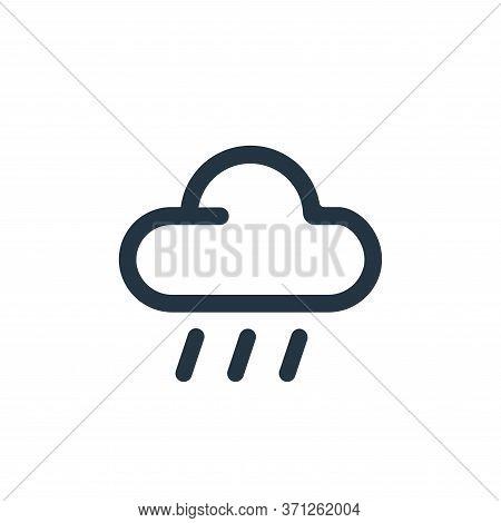 Rain Vector Icon. Rain Editable Stroke. Rain Linear Symbol For Use On Web And Mobile Apps, Logo, Pri