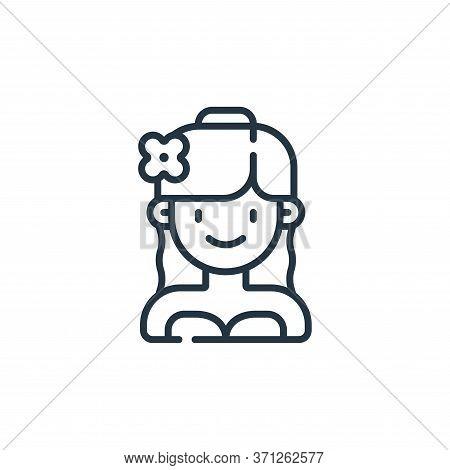 Bride Vector Icon. Bride Editable Stroke. Bride Linear Symbol For Use On Web And Mobile Apps, Logo,