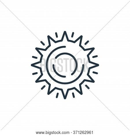 Noon Vector Icon. Noon Editable Stroke. Noon Linear Symbol For Use On Web And Mobile Apps, Logo, Pri