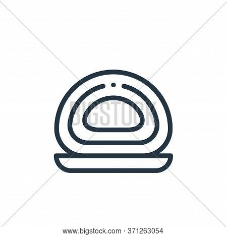 Roll Cake Vector Icon. Roll Cake Editable Stroke. Roll Cake Linear Symbol For Use On Web And Mobile
