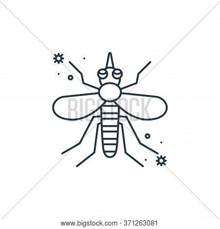 Mosquito Vector Icon. Mosquito Editable Stroke. Mosquito Linear Symbol For Use On Web And Mobile App