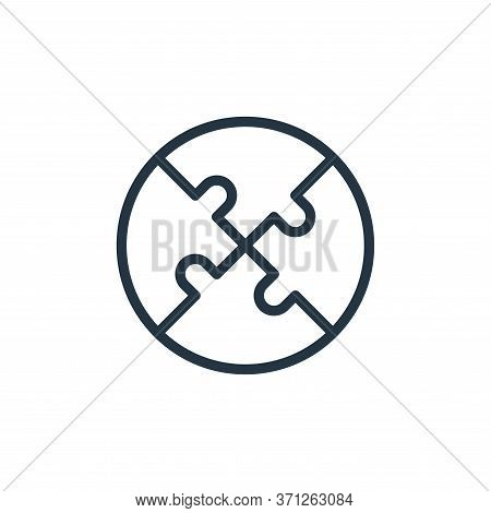 Puzzle Vector Icon. Puzzle Editable Stroke. Puzzle Linear Symbol For Use On Web And Mobile Apps, Log