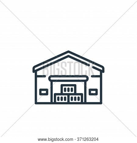 Warehouse Vector Icon. Warehouse Editable Stroke. Warehouse Linear Symbol For Use On Web And Mobile