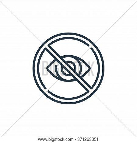Hidden Vector Icon. Hidden Editable Stroke. Hidden Linear Symbol For Use On Web And Mobile Apps, Log