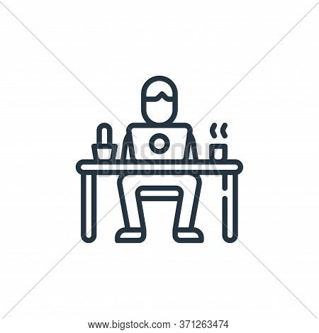 Work Station Vector Icon. Work Station Editable Stroke. Work Station Linear Symbol For Use On Web An