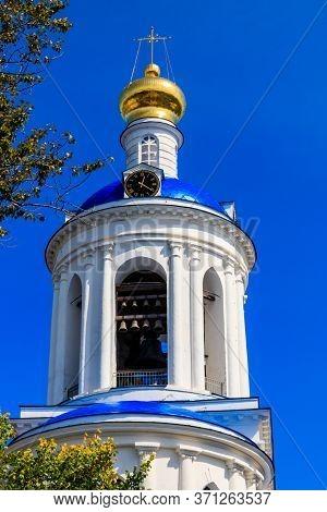 Bell Tower Of Bogolyubovo Convent In Vladimir Oblast, Russia