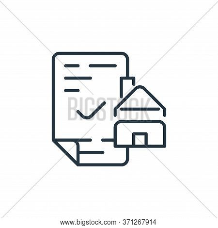 Mortgage Loan Vector Icon. Mortgage Loan Editable Stroke. Mortgage Loan Linear Symbol For Use On Web