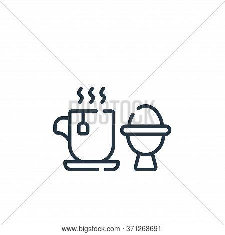 Breakfast Vector Icon. Breakfast Editable Stroke. Breakfast Linear Symbol For Use On Web And Mobile