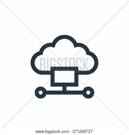 Cloud Computing Vector Icon. Cloud Computing Editable Stroke. Cloud Computing Linear Symbol For Use