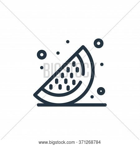 Watermelons Vector Icon. Watermelons Editable Stroke. Watermelons Linear Symbol For Use On Web And M