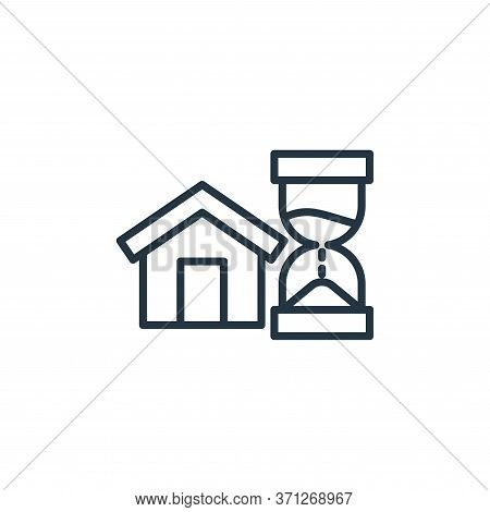 Stay Home Vector Icon. Stay Home Editable Stroke. Stay Home Linear Symbol For Use On Web And Mobile