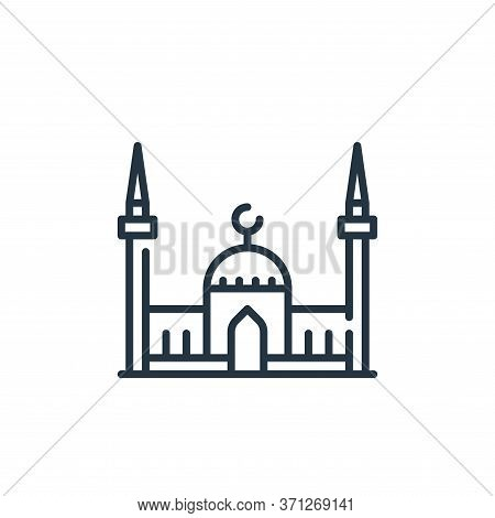 Mosque Vector Icon. Mosque Editable Stroke. Mosque Linear Symbol For Use On Web And Mobile Apps, Log