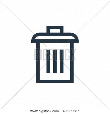 Trash Bin Vector Icon. Trash Bin Editable Stroke. Trash Bin Linear Symbol For Use On Web And Mobile