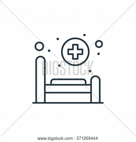 Hospital Bed Vector Icon. Hospital Bed Editable Stroke. Hospital Bed Linear Symbol For Use On Web An