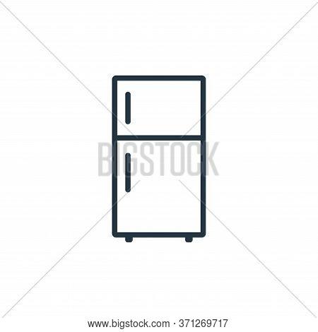 Fridge Vector Icon. Fridge Editable Stroke. Fridge Linear Symbol For Use On Web And Mobile Apps, Log