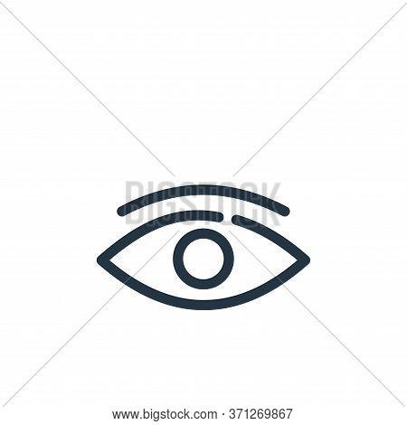 Eye Vector Icon. Eye Editable Stroke. Eye Linear Symbol For Use On Web And Mobile Apps, Logo, Print