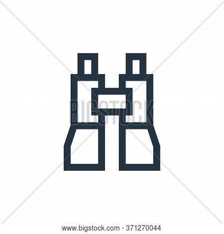 Binoculars Vector Icon. Binoculars Editable Stroke. Binoculars Linear Symbol For Use On Web And Mobi