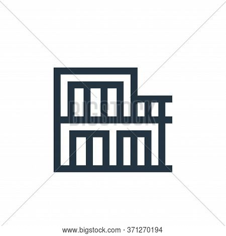 Chalet Vector Icon. Chalet Editable Stroke. Chalet Linear Symbol For Use On Web And Mobile Apps, Log