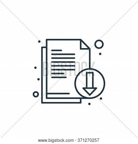 Download File Vector Icon. Download File Editable Stroke. Download File Linear Symbol For Use On Web