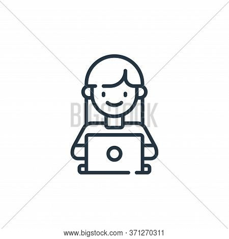 Working Mother Vector Icon. Working Mother Editable Stroke. Working Mother Linear Symbol For Use On