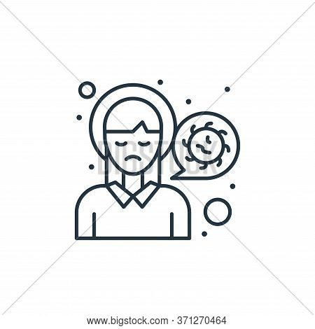 Headache Vector Icon. Headache Editable Stroke. Headache Linear Symbol For Use On Web And Mobile App