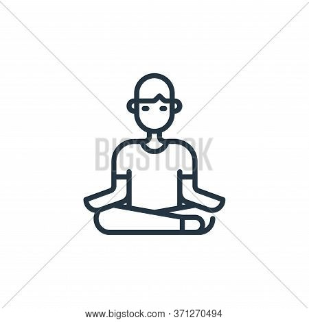 Meditation Vector Icon. Meditation Editable Stroke. Meditation Linear Symbol For Use On Web And Mobi