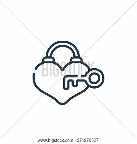 Heart Lock Vector Icon. Heart Lock Editable Stroke. Heart Lock Linear Symbol For Use On Web And Mobi