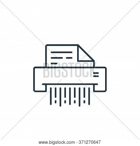 Shred Vector Icon. Shred Editable Stroke. Shred Linear Symbol For Use On Web And Mobile Apps, Logo,