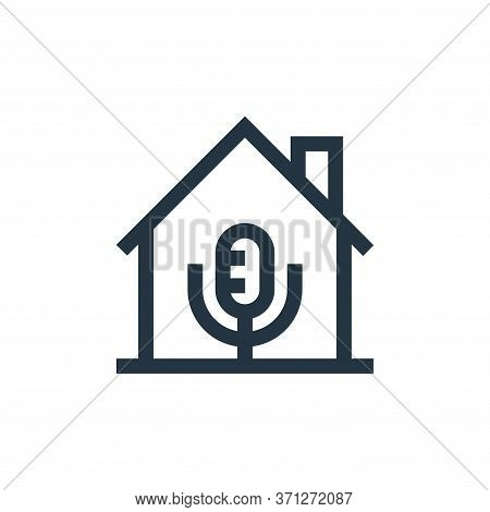 Microphone Vector Icon. Microphone Editable Stroke. Microphone Linear Symbol For Use On Web And Mobi