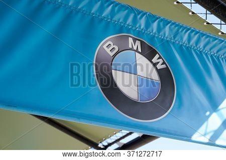 Bordeaux , Aquitaine / France - 10 17 2019 : Bmw Dealership Sign Flag Store Luxury Automakers Logo S