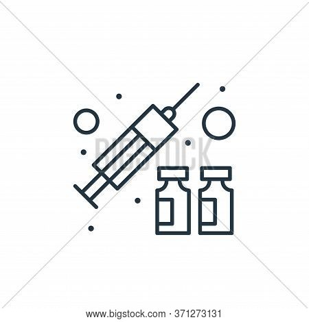 Injection Vector Icon. Injection Editable Stroke. Injection Linear Symbol For Use On Web And Mobile