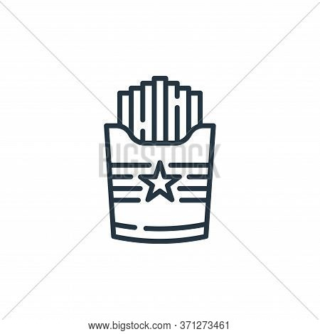 French Fries Vector Icon. French Fries Editable Stroke. French Fries Linear Symbol For Use On Web An