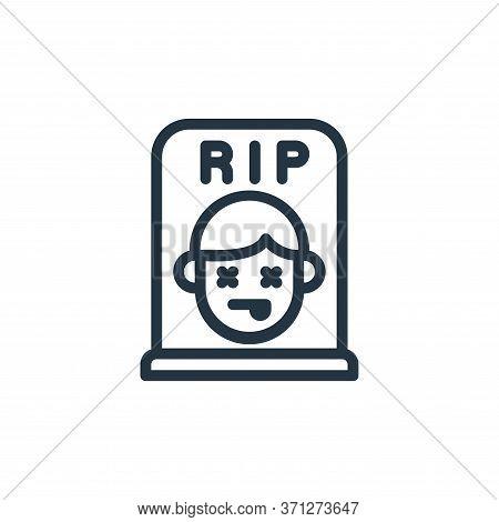 Dead Vector Icon. Dead Editable Stroke. Dead Linear Symbol For Use On Web And Mobile Apps, Logo, Pri