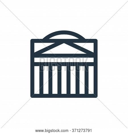 Pantheon Vector Icon. Pantheon Editable Stroke. Pantheon Linear Symbol For Use On Web And Mobile App